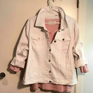 New White denim Jean jacket